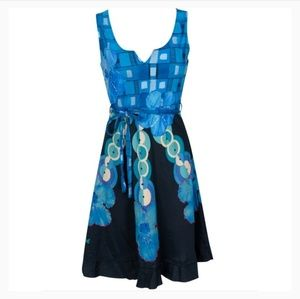 Desigual Elian Fit n' Flare Dress w/ Sequin Detail